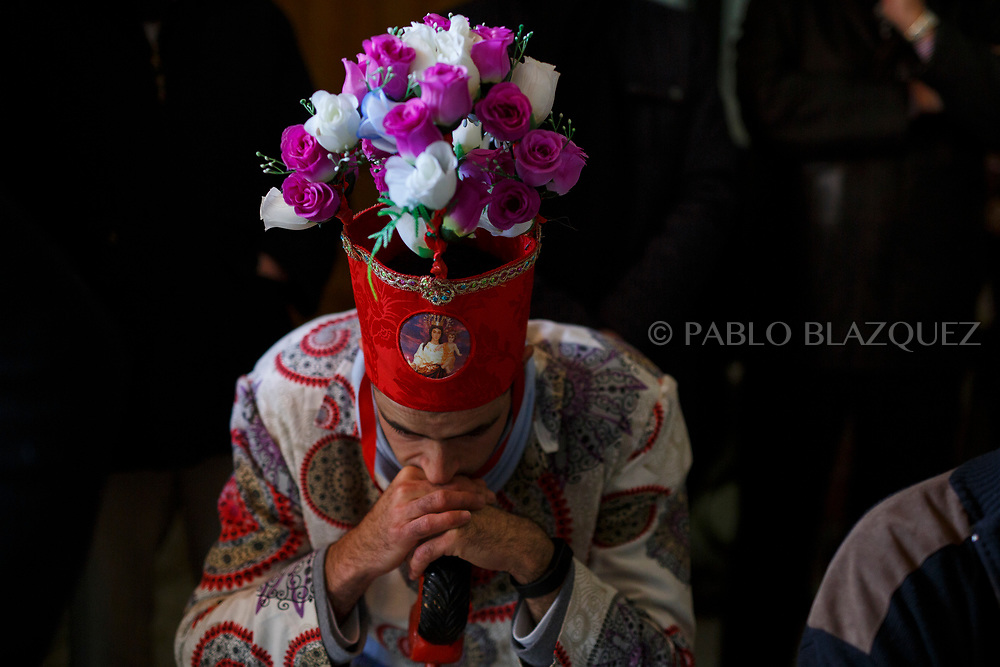 2018/02/02. ALMONACID DEL MARQUESADO, SPAIN - JANUARY 16: Worshippers dressed as Diablos 'Devils' take part in the Endiablada 'The Brotherhood of the Devils' festival on February 2, 2018 in Almonacid del Marquesado, Cuenca province, Spain. La Endiablada is a centenary tradition of unknown origins celebrated on Virgen de la Candelaria 'Our Lady of Candelaria' and San Blas 'Saint Blaise' days. The Diablos wear colourful clothes, a hat and carry bells and personalised porras 'batons'. (Photo by Pablo Blazquez Dominguez)