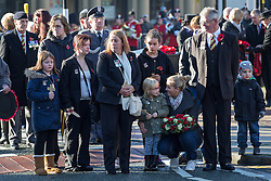 © Licensed to London News Pictures . 10/11/2013 . Bury , UK . Family of Drummer (Private) Lee Rigby of the Royal Regiment of Fusiliers outside the church before the service . Remembrance Sunday service at Bury Parish Church , Greater Manchester today (Sunday 10th November 2013) . Photo credit : Joel Goodman/LNP
