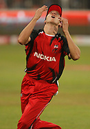 Looking for a catch Cullen Bailey during match 11 of the Airtel CLT20 between The South Australian Redbacks and The Royal Challengers Bangalore held at Kingsmead Stadium in Durban on the 17 September 2010..Photo by: Steve Haag/SPORTZPICS/CLT20.