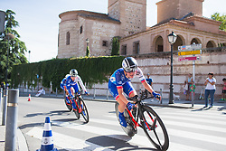 Rozanne Slik (NED) of FDJ Nouvelle Aquitaine Futuroscope Team leans into the final corner on Stage 1 of the Madrid Challenge - a 12.6 km team time trial, starting and finishing in Boadille del Monte on September 15, 2018, in Madrid, Spain. (Photo by Balint Hamvas/Velofocus.com)