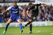 Brighton & Hove Albion winger Anthony Knockaert (11) shoots at goal during the EFL Sky Bet Championship match between Ipswich Town and Brighton and Hove Albion at Portman Road, Ipswich, England on 27 September 2016.