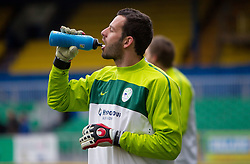 Goalkeeper Samir Handanovic during practice session of Slovenia National football team One day before EURO 2012 Quaifications game between National teams of Slovenia and Northern Ireland, on March 28, 2011, in Windsor Park Stadium, Belfast, Northern Ireland, United Kingdom. (Photo by Vid Ponikvar / Sportida)