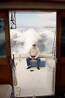 Boater at Back of Boat