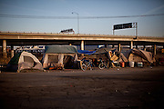 A homeless encampment in Fresno, Calif., September 20, 2012.