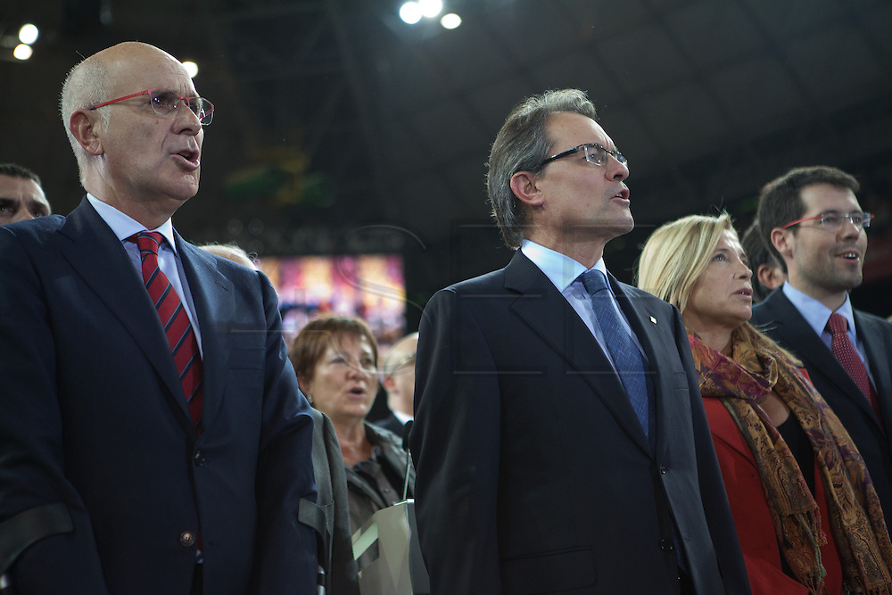 Artur Mas, the President. The last miting of CIU Party in the Electioneergin for the Catalonia's Independence Call.  Palau Sant Jordi, 23th of November. CIU is the Government Party who convened advanced elections.