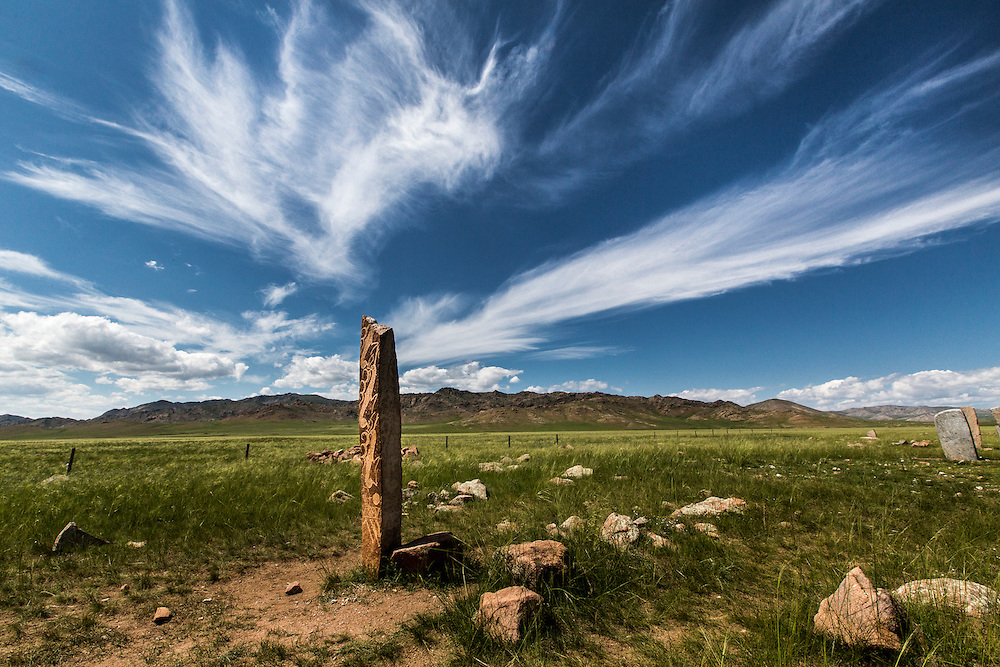 A Deer stone site near Mörön in Mongolia on July 23, 2012. © 2012 Tom Turner Photography
