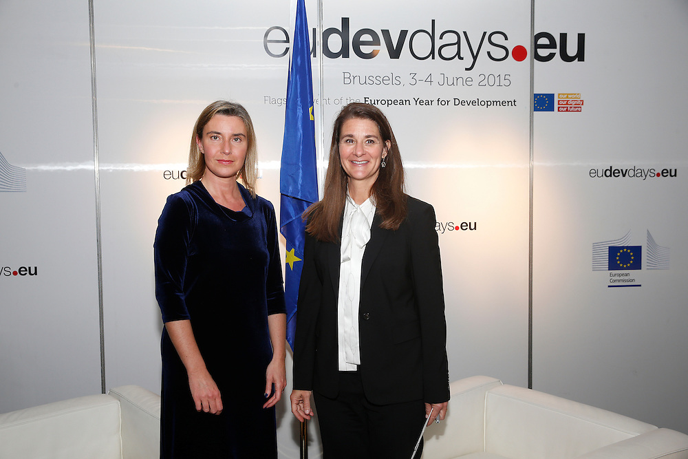 20150603- Brussels - Belgium - 03 June2015 - European Development Days - EDD  - Melinda Gates BMGF and Mogherini © EU/UE