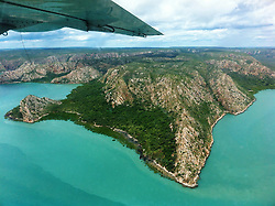 View over Dugong Bay from Horizontal Falls Adventure Tours' float plane.