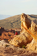Woman at the Valley of Fire, near Las Vegas, Nevada, USA