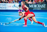 Londen - Giselle Ansley (Eng)   tijdens de cross over wedstrijd Engeland-Korea (2-0) bij het WK Hockey 2018 in Londen.    COPYRIGHT KOEN SUYK