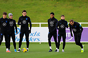England forward Harry Kane and team mates during the England football team training session at St George's Park National Football Centre, Burton-Upon-Trent, United Kingdom on 13 November 2019.