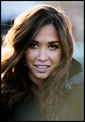 Myleene Klass  in the parade ring at Newbury racecourse for the Hennessy Gold Cup at Newbury racecourse in Berkshire, United Kingdom,  Saturday, 30th November 2013. Picture by Andrew Parsons / i-Images