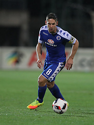 Dean Furman (C) of SuperSport United during the 2016 Premier Soccer League match between Golden Arrows and Supersport United held at the Princess Magogo Stadium in Durban, South Africa on the 28th September 2016<br /> <br /> Photo by:   Steve Haag / Real Time Images
