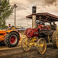 The 1915 Russell Tractor was a steam powered tractor.  Russell produced steam engine tractors from 1882 to 1924.  They varied in sizes from 6HP to 150HP for small farms to large professional applications.
