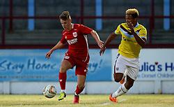 A Trialist for Bristol City Under 21s takes part in the preseason friendly against Weymouth - Mandatory by-line: Robbie Stephenson/JMP - 13/07/2016 - FOOTBALL - Bob Lucas Stadium - Weymouth, England - Weymouth FC v Bristol City Under 21s - Pre-season friendly