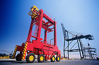 Industrial equipment at freight terminal