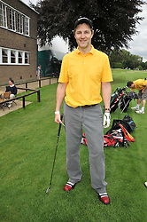 Actor DAVID MORRISSEY at the Mini Masters Golf tournament in aid of LEUKA - London's celebrity golf tournament held at Duke's Meadow Golf Club, Dan Mason Drive, London W4 on 17th July 2009.