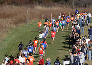 Warwick, N.Y. - Spectators line the course during a girls' race at the New York State Public High School Athletic Association cross country championships at Sanfordville Elementary School on Nov. 11, 2006.