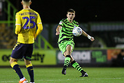Forest Green Rovers Liam Kitching(20) passes the ball forward during the Leasing.com EFL Trophy match between Forest Green Rovers and Coventry City at the New Lawn, Forest Green, United Kingdom on 8 October 2019.