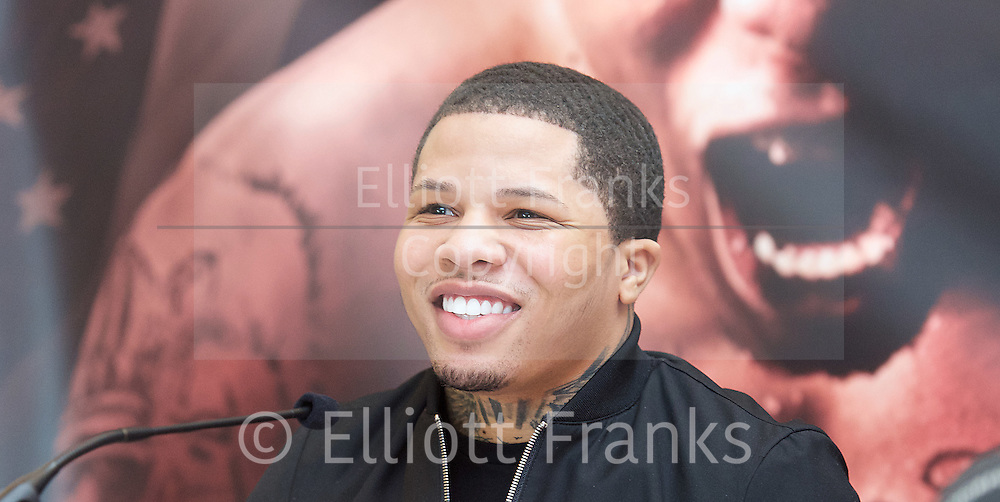 Floyd Mayweather Jr &amp; Frank Warren press conference at The Savoy Hotel, London, Great Britain <br /> 7th March 2017 <br /> <br /> <br /> <br /> Gervonta Davis <br /> (an American professional boxer who has held the IBF junior lightweight title since January 2017)<br /> <br /> <br /> <br /> Photograph by Elliott Franks <br /> Image licensed to Elliott Franks Photography Services