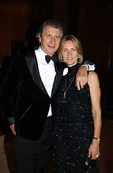 MR & MRS ARNAUD BAMBERGER at the 2004 Cartier Racing Awards in association with the Daily Telegraph, held at the Four Seasons Hotel, London on 17th November 2004.<br />