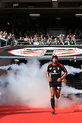 Thierry Dusautoir comes out of the tunnel before the Heineken Cup Quarter Final match between Stade Toulousain and Stade Francais at the Stade Municipal on April 11, 2010 in Toulouse, France.