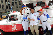 Baseball great Keith Hernandez takes a selfie with Mr. & Mrs. Met to celebrate the launch of the Good Humor Welcome to Joyhood campaign, Thursday, June 25, 2015, in New York. Follow @GoodHumor on Twitter as the Joy Squad travels to other cities this summer. (Photo by Diane Bondareff/AP Images for Good Humor)