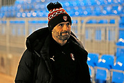 Paul Warne arrives before the The FA Cup match between Solihull Moors and Rotherham United at the Automated Technology Group Stadium, Solihull, United Kingdom on 2 December 2019.