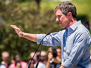 09 JUNE 2019 - DES MOINES, IOWA: BETO O'ROURKE, Democratic candidate for president, speaks at the candidate forum at Capital City Pride Fest. Many of the Democratic presidential candidates campaigned at Capital City Pride Fest in Des Moines Saturday. Iowa traditionally hosts the the first selection event of the presidential election cycle. The Iowa Caucuses will be on Feb. 3, 2020.                  PHOTO BY JACK KURTZ