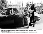 Estee Lauder arriving for the wedding of Saarah Ferguson to Prince Andrew. Westminster Abbey.  23 July 1986. Film 86869f4<br />© Copyright Photograph by Dafydd Jones<br />66 Stockwell Park Rd. London SW9 0DA<br />Tel 0171 733 0108