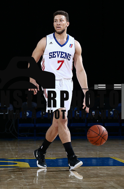 Delaware 87ers Guard BRANDON TRICHE (7) dribbles down the floor in the first half of a NBA D-league regular season basketball game between the Delaware 87ers and the Oklahoma City Blue (Oklahoma City Thunder) Tuesday, Dec. 13, 2016, at The Bob Carpenter Sports Convocation Center in Newark, DEL