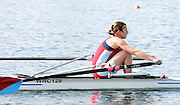Eton, United Kingdom.  Kathryn TWYMAN, competing in the Women's Lightweight Single Sculls  Sat. time trial.  2011 GBRowing Trials, Dorney Lake. Saturday  16/04/2011  [Mandatory Credit; Peter Spurrier/Intersport-images] Venue For 2012 Olympic Regatta and Flat Water Canoe events.