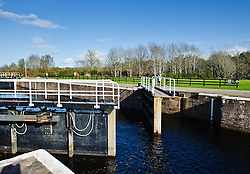 a Lock opening on the Caledonian Canal at Dochgarroch, near Inverness, Scotland<br /> <br /> (c) Andrew Wilson | Edinburgh Elite media