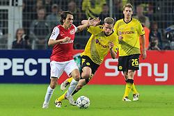 13.09.2011, Signal Iduna Park, Dortmund, GER, UEFA CL, Gruppe F, Borussia Dortmund (GER) vs Arsenal London (ENG), im Bild.Yossi Benayoun (Arsenal #30) (L) gegen Sven Bender (Dortmund #22)..// during the UEFA CL, group F, Borussia Dortmund (GER) vs Arsenal London on 2011/09/13, at Signal Iduna Park, Dortmund, Germany. EXPA Pictures © 2011, PhotoCredit: EXPA/ nph/  Mueller       ****** out of GER / CRO  / BEL ******