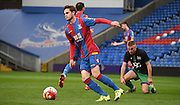 Will Hoare takes control during the Final Third Development League match between U21 Crystal Palace and U21 Bristol City at Selhurst Park, London, England on 3 November 2015. Photo by Michael Hulf.