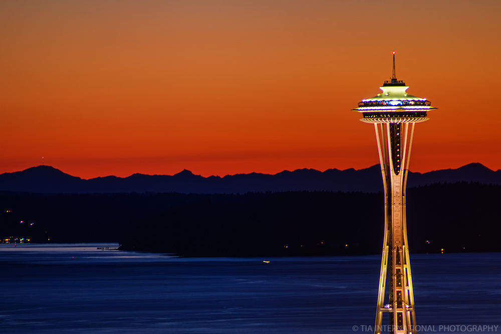 Space Needle, September Sunset
