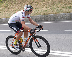 08.07.2017, Wels, AUT, Ö-Tour, Österreich Radrundfahrt 2017, 6. Etappe von St. Johann/Alpendorf nach Wels (203,9 km), im Bild Matthias Krizek (AUT, Tirol Cycling Team) // Matthias Krizek of Austria (Tirol Cycling Team) during the 6th stage from St. Johann/Alpendorf to Wels (203,9 km) of 2017 Tour of Austria. Wels, Austria on 2017/07/08. EXPA Pictures © 2017, PhotoCredit: EXPA/ Reinhard Eisenbauer