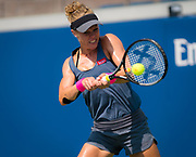 Laura Siegemund of Germany in action during the first round of the 2018 US Open Grand Slam tennis tournament, at Billie Jean King National Tennis Center in Flushing Meadow, New York, USA, August 28th 2018, Photo Rob Prange / SpainProSportsImages / DPPI / ProSportsImages / DPPI