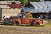 Old Chevy Pickup Truck at Deer Harbor Farm, Orcas Island, San Juan Islands, Washington, US