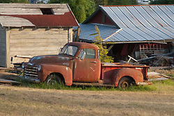 Old Chevy Pickup Truck at Deer Harbor Farm, Orcas Island, San Juan Islands, Washington, US