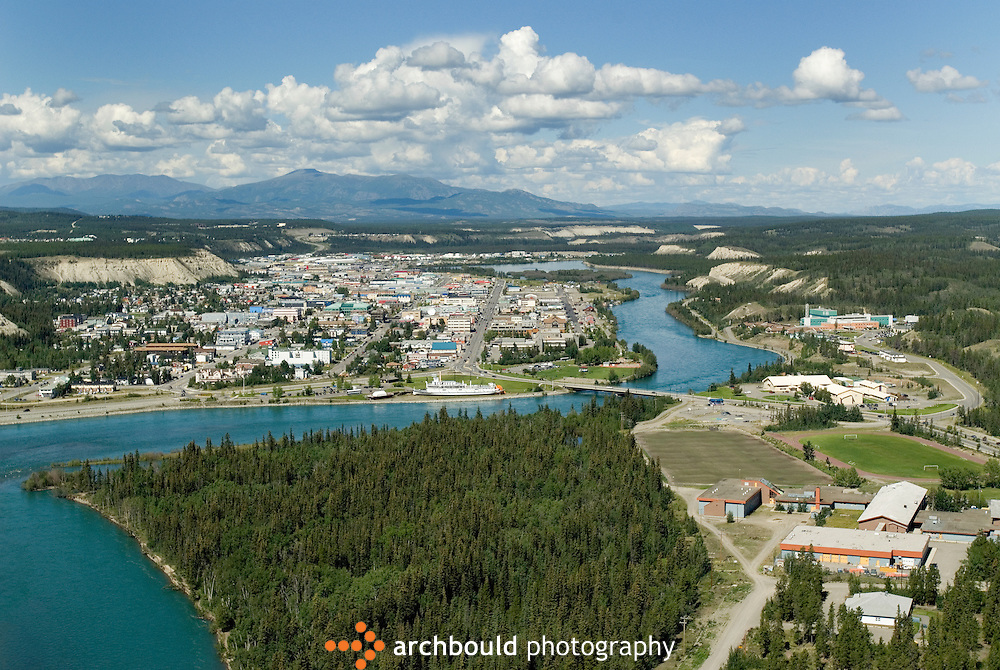 Aerial view of Whitehorse, Yukon<br /> <br /> NOT IN YOUR BUDGET? Contact Cathie for a price specific to your project.