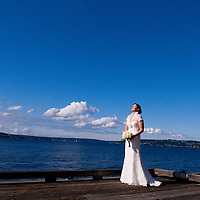 Lake Washington Bridal Portrait session before a Seattle wedding.