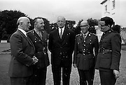 29/7/1964<br /> 7/29/1964<br /> 29 July 1964<br /> <br /> The Officers of the 3rd Infantry meeting the President <br /> <br /> (From L-R) Mr Gerald Bartley Minister for Defence, Lt. Gen Sean McKeown, President Éamon de Valera, Col Thomas McDonald and Rev. Thomas Kelly the Chaplain