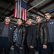 "Atlanta, Georgia/Uzbekistan Refugees/TheTashtanov brothers arrived in the U.S. in 2005 to escape discrimination against minority Meskhetian Turks from Uzbekistan. ""The USSR moved us from Uzbekistan to Russia, they moved all the Turks. We lived in Southern Russia but we couldn't get residential status. After fifteen years we couldn't put our kids in schools, we couldn't get jobs. We were farming vegetables and fruits and animals. We were living off of our land only,"" says Mustafa, 43 (center). ""In 2005 IOM they heard about Turkish people in Russia, that they didn't have any rights, and no way to live."" When they arrived in the United States, the IRC helped the brothers learn English, find accommodations, secure a job and adjust to the American culture. One of the brothers, Suleyman said,  ""We feel like we are human beings here.""  Once the brothers got on their feet, they opened up an auto repair shop called Five Brothers Automotive, LLC that is now the largest business in Roswell, GA. Suleyman feels that the unity of his brothers and the support they have receiving from the community has led to their success. ""We were never treated like outsiders here,"" he said. All five brothers and their families are now U.S. citizens. /UNHCR/E.Hockstein/February 2013."