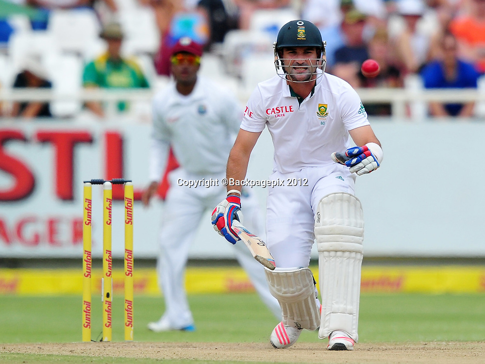 Dean Elgar of South Africa during day 2 of the Sunfoil Test Series 2014/15 game between South Africa and the West Indies at Newlands Stadium, Cape Town on 3 January 2015 ©Ryan Wilkisky/BackpagePix