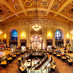 Kansas City Union Station interior panorama photo, November 2016.