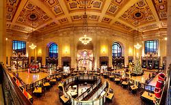 Kansas City Union Station interior panorama photo, November 2016.