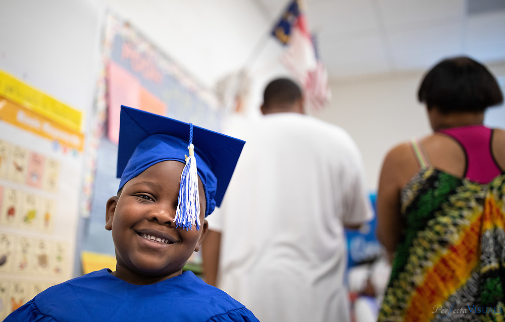 Last day of school Union Hill Elementary <br /> Vincent Adams, age 5.<br /> <br /> Photographed, Tuesday, June 12, 2018, in Greensboro, N.C. JERRY WOLFORD and SCOTT MUTHERSBAUGH / Perfecta Visuals