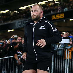 Owen Franks during the Bledisloe Cup and Rugby Championship rugby match between the New Zealand All Blacks and Australia Wallabies at Eden Park in Auckland, New Zealand on Saturday, 25 August 2018. Photo: Simon Watts / lintottphoto.co.nz