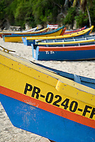 Colorful yolas (fishermen's boats)